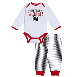 babyGEAR™ 2-Piece My First Valentine's Day Bodysuit and Pant Set in Red