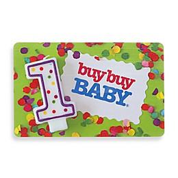1st Birthday Gift Card