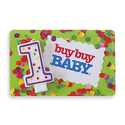 1st Birthday Gift Card
