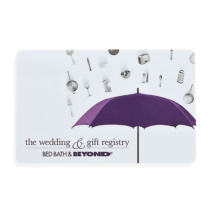 "Bed Bath And Beyond Registry: ""The Wedding & Gift Registry"" Bridal Shower Gift Card $100"