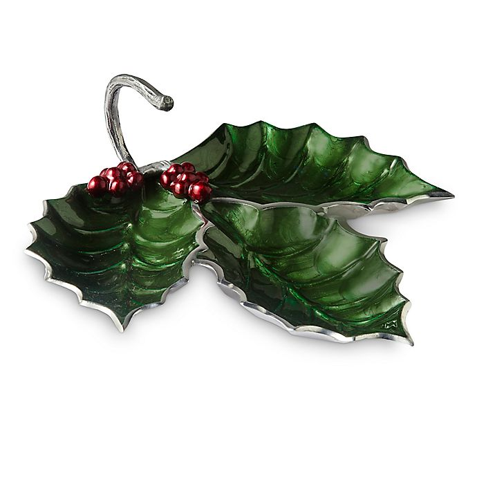 Alternate image 1 for Julia Knight® Holly Sprig 3-Part Divided Server in Emerald