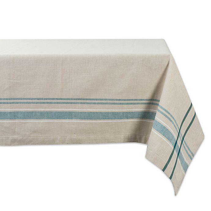 Alternate image 1 for Design Imports French Stripe Tablecloth