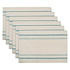 Design Imports French Stripe Placemats in Teal (Set of 6)