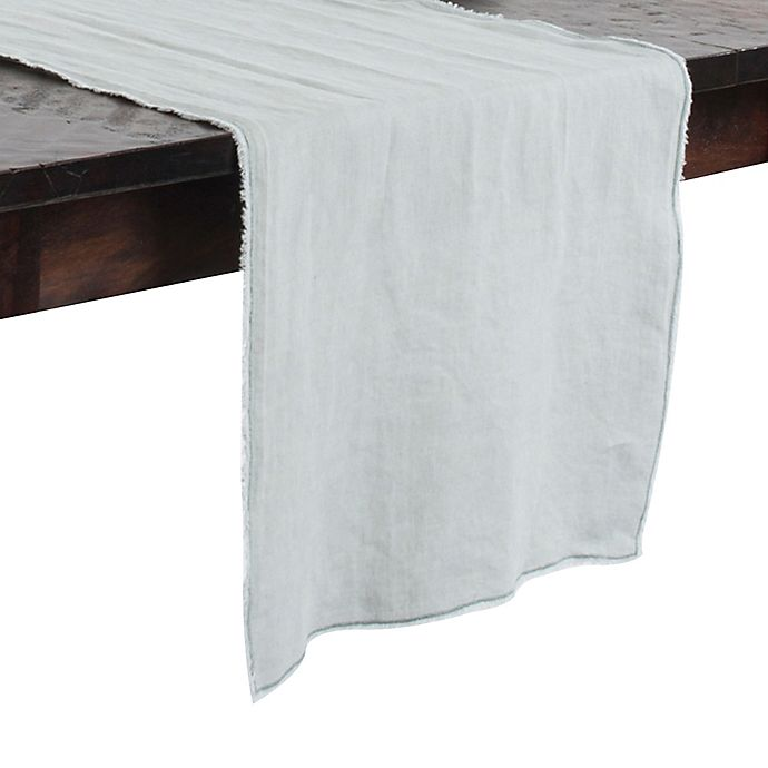 Alternate image 1 for Saro Lifestyle Graciella Fringed 72-Inch Table Runner