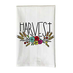 """Love You a Latte """"Harvest"""" Kitchen Towel in White"""