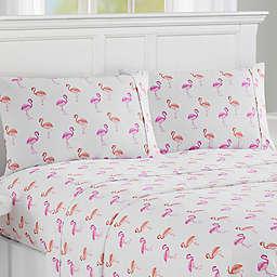 Caribbean Joe Flamingo Print Sheet Set
