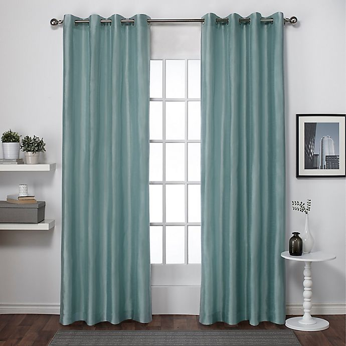 Alternate image 1 for Chatra 96-Inch Grommet Top Window Curtain Panel Pair in Seafoam