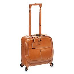 Bric's Pilote Pelle Rolling Suitcase in Cognac