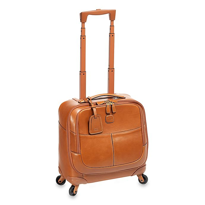 Alternate image 1 for Bric's Pilote Pelle Rolling Suitcase in Cognac
