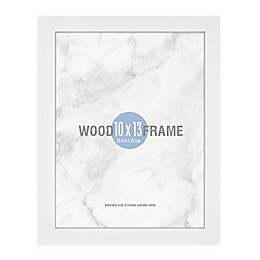 Gallery 10-Inch x 13-Inch Wood Picture Frame in White