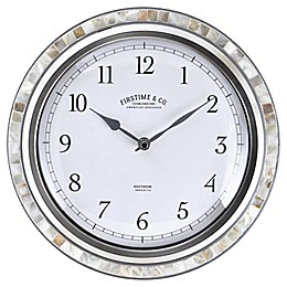 FirsTime® Sophia Mosaic 11.5-Inch Wall Clock in Silver/Pearl
