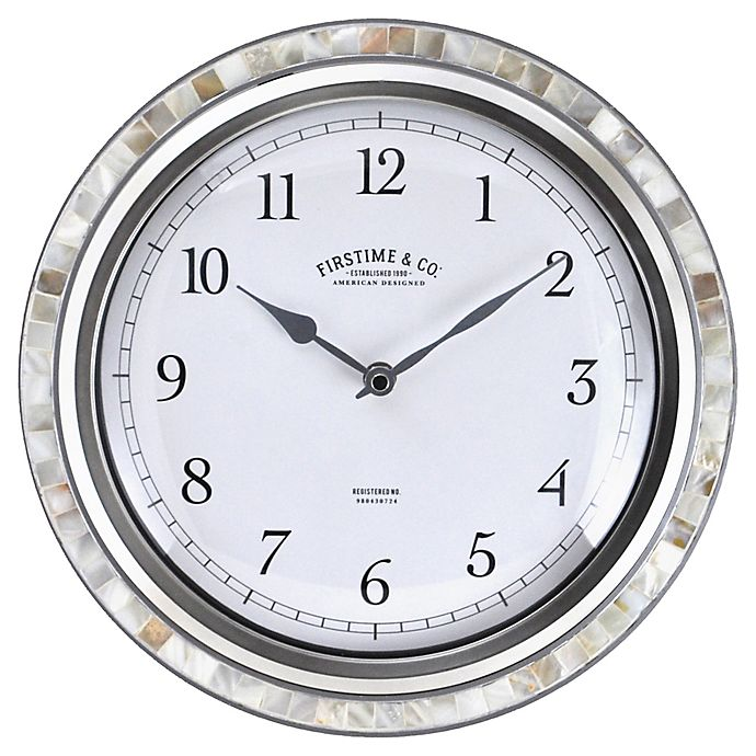 Alternate image 1 for FirsTime® Sophia Mosaic 11.5-Inch Wall Clock in Silver/Pearl