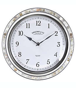 FirsTime® Sophia Reloj de pared con mosaicos en plata/perla