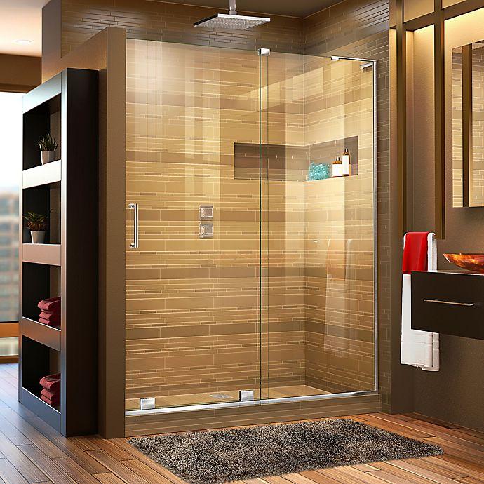 Alternate image 1 for DreamLine® Mirage-X 44-48-Inch x 72-Inch Right Frameless Sliding Shower Door in Chrome