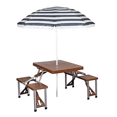 Stansport® Portable Picnic Table & Umbrella