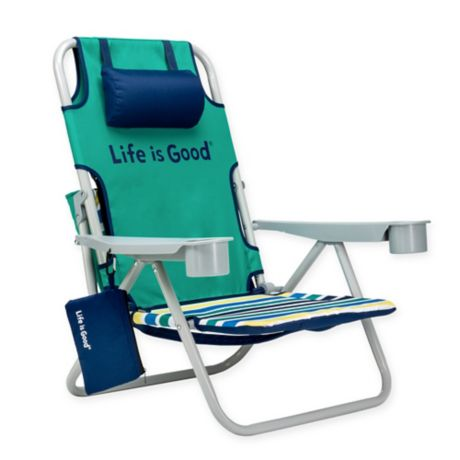 Life Is Good 174 Folding Beach Chair With Cooler Bed Bath