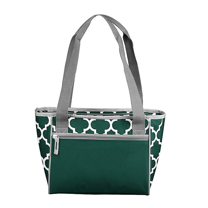 Alternate image 1 for Quatrefoil Picnic Caddy Tote in Hunter Green