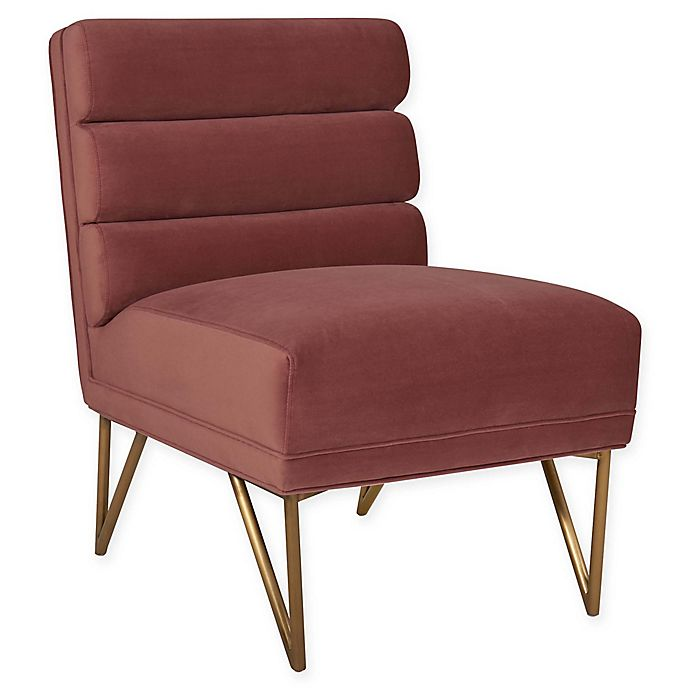 Alternate image 1 for Tov Furniture™ Velvet Upholstered Kelly Chair in Salmon