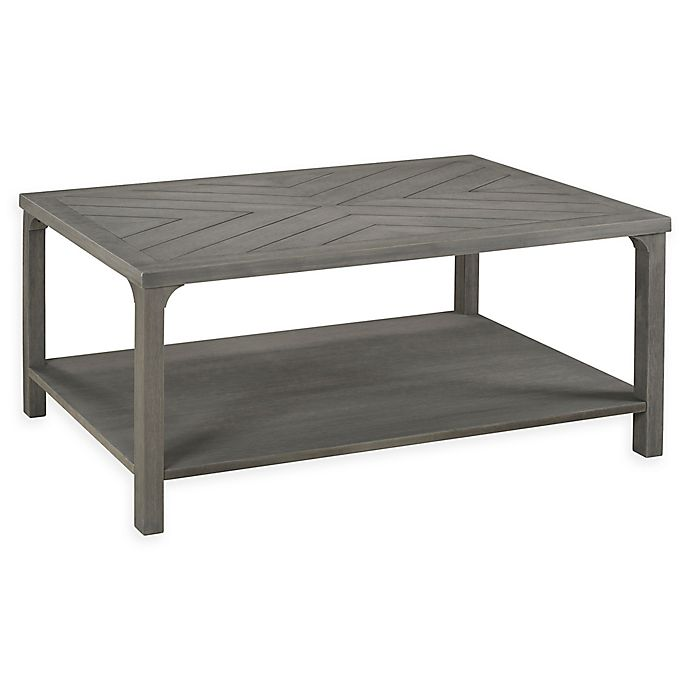 Alternate image 1 for Forest Gate Solid Wood Coffee Table in Grey