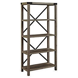 Forest Gate Englewood Farmhouse 64-Inch Bookcase