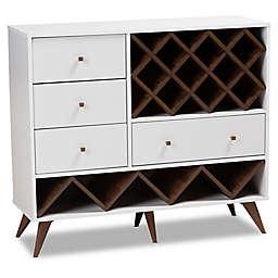 Baxton Studio Colton Wooden Wine Storage Cabinet