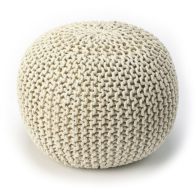 Alternate image 1 for Butler Specialty Company Wool Pouf in Off White