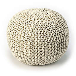 Butler Specialty Company Wool Pouf in Off White