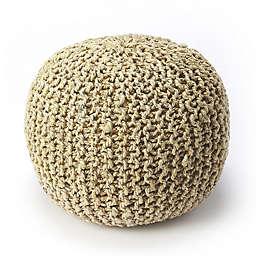 Butler Specialty Company Wool Pouf in Beige