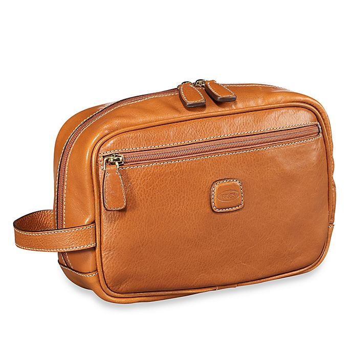 Alternate image 1 for Bric's Pelle Traditional Shave Case in Cognac