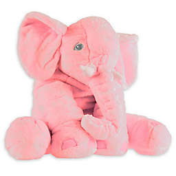 Happy Trails Elephant Plush Toy in Pink