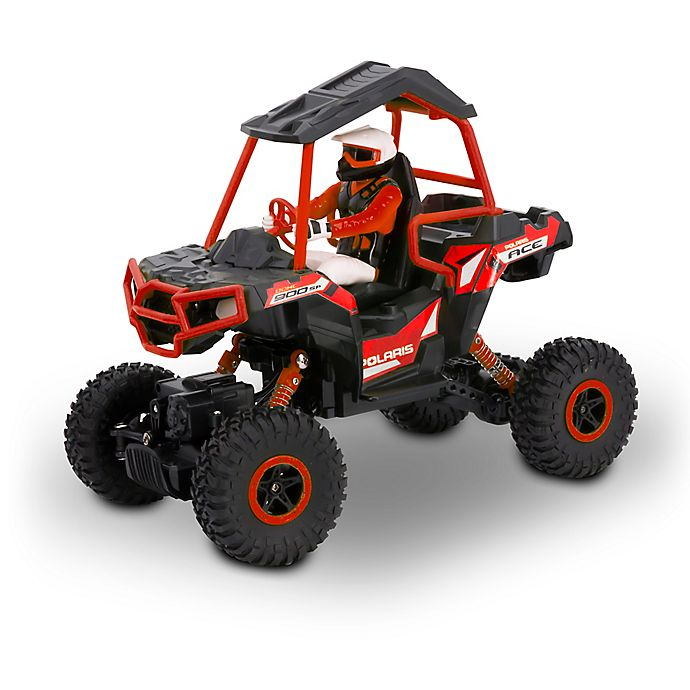 Alternate image 1 for KidzTech 1:8 Scale Remote Control Polaris Ace Sportsman's Rock Cruiser in Red
