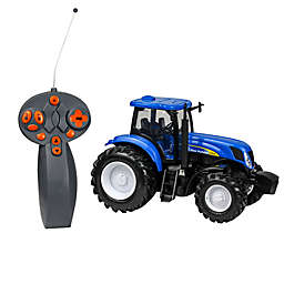 New-Ray 1:24 Scale Remote Control New Holland Farm Tractor in Blue