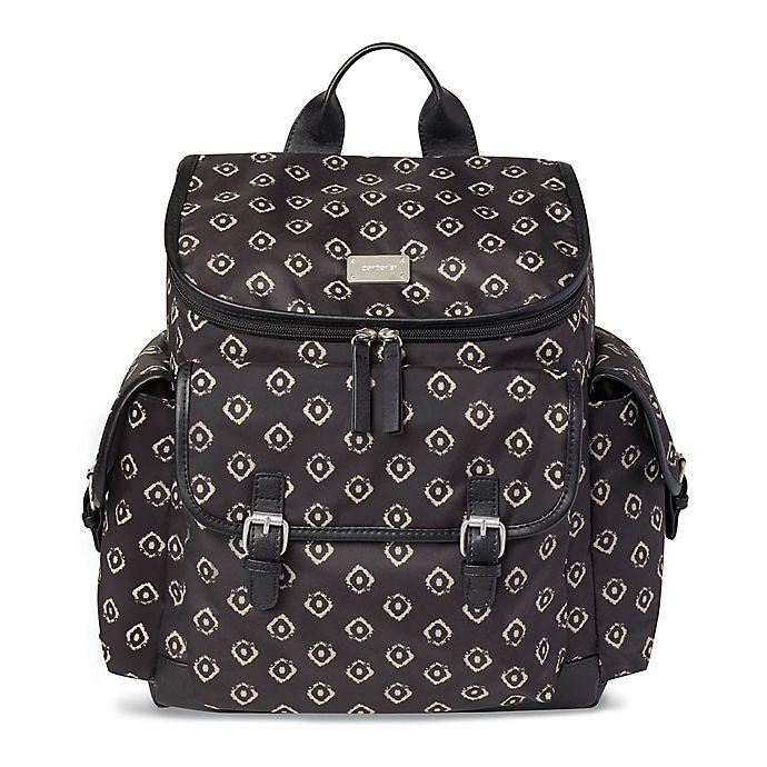 Alternate image 1 for carter's® Baby Go Diaper Backpack Diaper Bag in Black