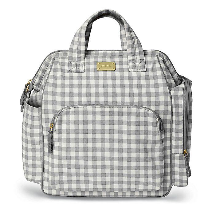 Alternate image 1 for carter's® Frame Up Diaper Backpack in Grey