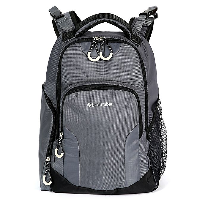 Alternate image 1 for California Innovations Columbia Summit Rush Diaper Backpack in Grey