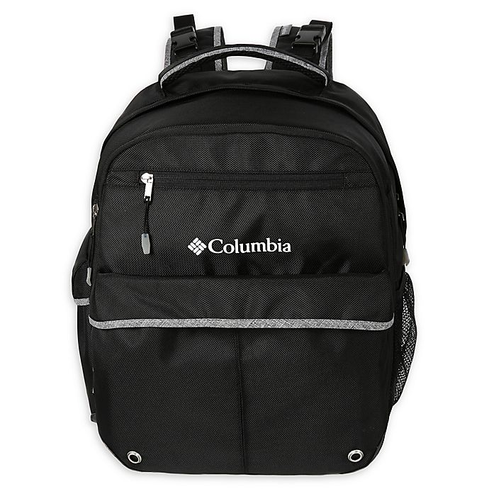 Alternate image 1 for California Innovations Columbia Huntsville Peak Diaper Backpack in Black