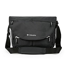 California Innovations Columbia Outfitter Expandable Messenger Diaper Bag in Black