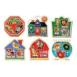 Melissa & Doug® 20-Piece Jumbo Knob Wooden Puzzle Set