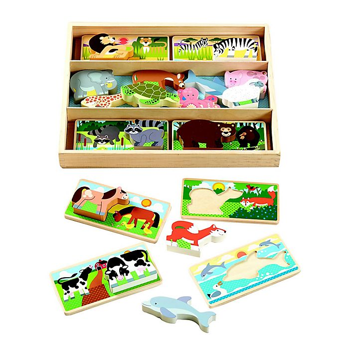 Alternate image 1 for Melissa & Doug® 16-Piece Animal Picture Boards
