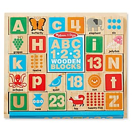 Melissa & Doug® 26-Piece ABC-123 Wooden Blocks