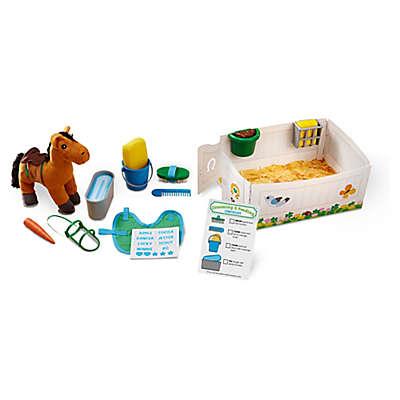Melissa & Doug® Feed & Groom Horse Care Playset