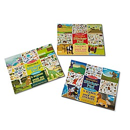 Melissa & Doug® Bible Story/Farm/Habitat Sticker Pad Play Bundle (Set of 3)