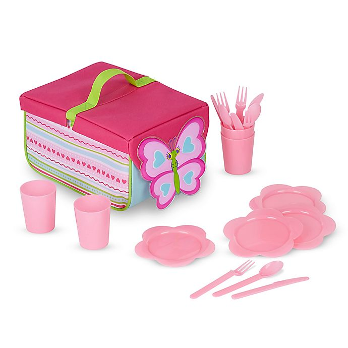 Alternate image 1 for Melissa and Doug® Cutie Pie Butterfly 20-Piece Picnic Set