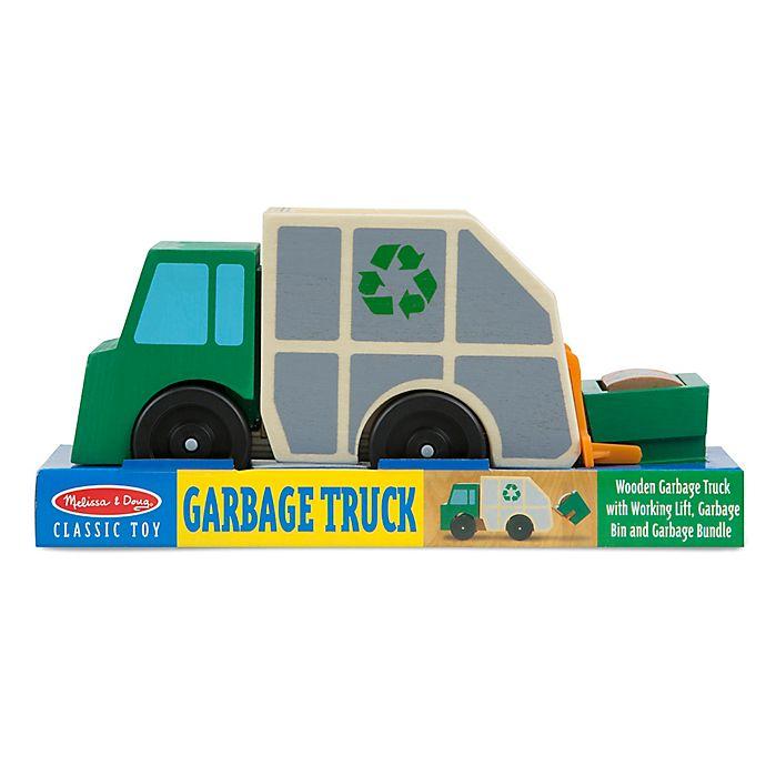 Alternate image 1 for Melissa & Doug® Wooden Garbage Truck
