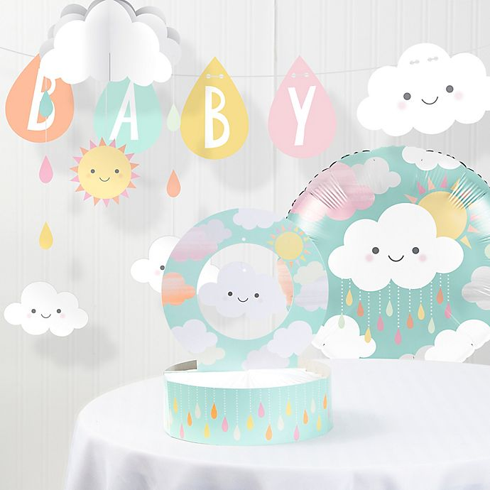 Alternate image 1 for Creative Converting™ Baby Shower Clouds Party Decorations Kit