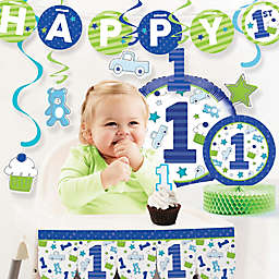Creative Converting™ 10-Piece Doodle 1st Birthday Boy Party Supplies Kit
