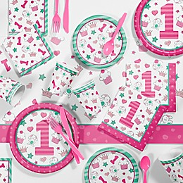 Creative Converting™ 81-Piece Doodle 1st Birthday Girl Party Supplies Kit