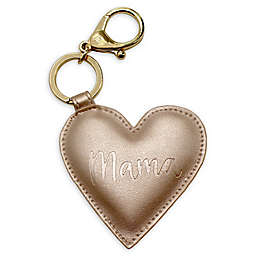 "Itzy Ritzy® ""Mama"" Heart Key Charm in Gold"