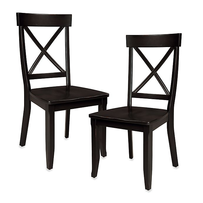 Alternate image 1 for Home Styles Dining Chair in Black (Set of 2)