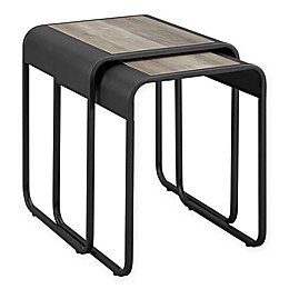 Forest Gate Modern Metal 2-Piece Nesting Table Set